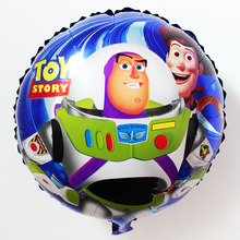 10pcs 18'' Buzz light year Aluminum foil Balloons/helium ballons for birthday party/Toy Story baloes hot cartoon globos kid18113