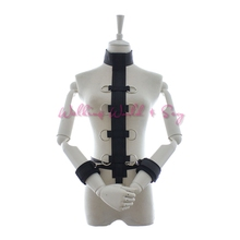 Buy Nylon Neck Collar Hand Restraints Wrist Cuffs Fetish Slave Harness Collar Bondage Adult Game Sex Toys Women Men Couple