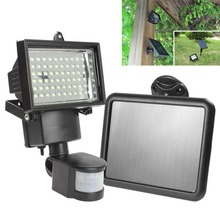 Hot Sale Solar Panel LED Flood Security Solar Garden Light PIR Motion Sensor 60 LEDs Path Wall Lamps Outdoor Emergency Lamp