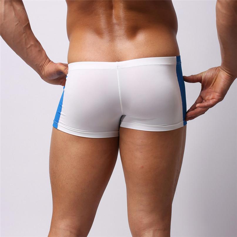 Mens Sexy Briefs Swimwear Running Boxer shorts Beach Underwear Trunk Underpants Swim Casual Quick-drying Swimwear New #2J19 (9)