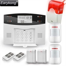 Earykong Home Burglar Security GSM Alarm System, NEW 850/900/1800/1900 Wireless Signaling, Motion Sensor, Smart Home Alarm(China)