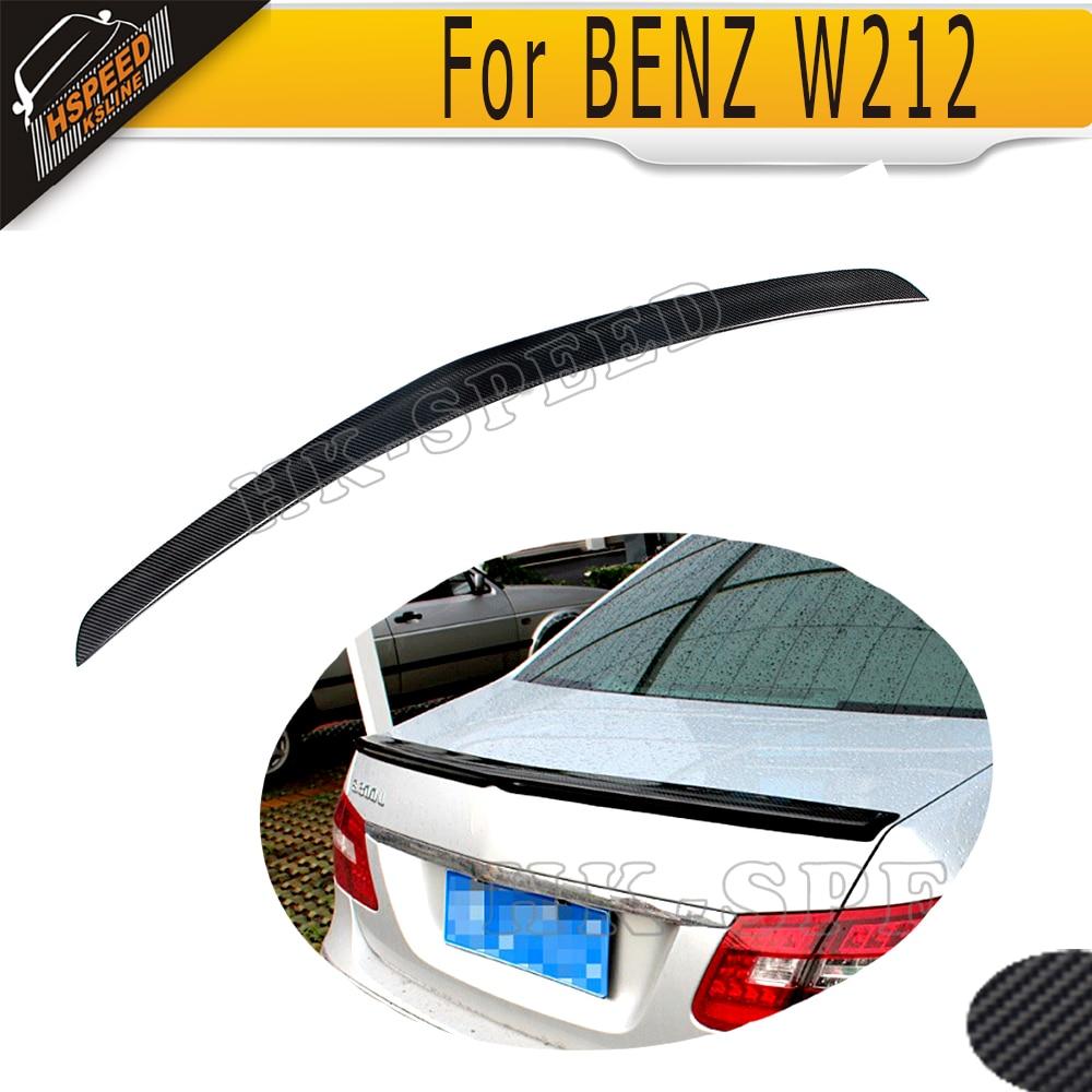 W212 A styling Carbon Fiber car Rear trunk boot lip spoiler wing for BENZ W212 E200 E260 E300 E63 2010-2013<br><br>Aliexpress