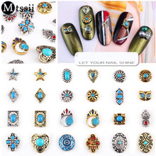 Mtssii 1pc Nail Silver Metal Nail Art Ornaments Alloy Retro Bohemian Style Nail Manicure Beauty Decoration Nail Tool