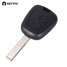 KEYYOU Remote Control Key For 433MHz 2 Buttons FOB Circuit Board For Peugeot 307 /Citroen 73373067C Free Shipping(China)
