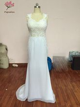 Elegant Lace Queen Anne Neckline Sheath Wedding Dresses With Lace Appliques WED90075