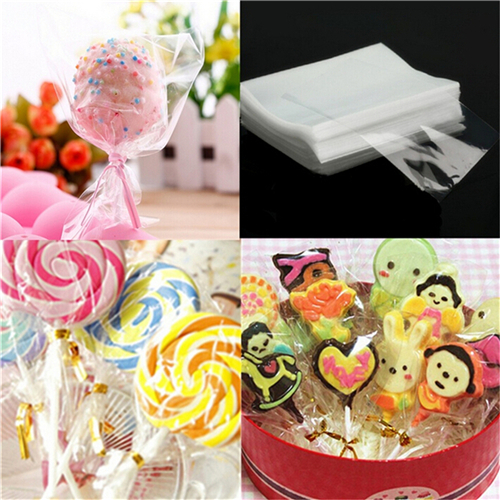 100Pcs 10*15cm Clear Cello Bags Party Gift Chocolate Lollipop Wedding Favor Candy Cellophane Bag New Gift Bag Plastic Wholesale