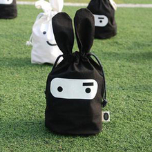 cute Rabbit cloth pouch beam port pouch debris bags daily sorting bags Outdoor Beach Clothing Shoes Towel Storage Bag