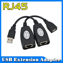 1 Pair RJ45 Networking Extender Cable Adapter Network Extension Mini USB Extender CAT5 5e 6 Cord LAN Cable 150ft Netwrok Extend