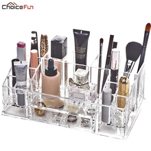 Buy CHOICEFUN Clear Acryl DIY Desktop Plastic Acrylic Skin Care Perfume Lipstick Nail Makeup Brush Cosmetic Organizer Brushes for $23.78 in AliExpress store