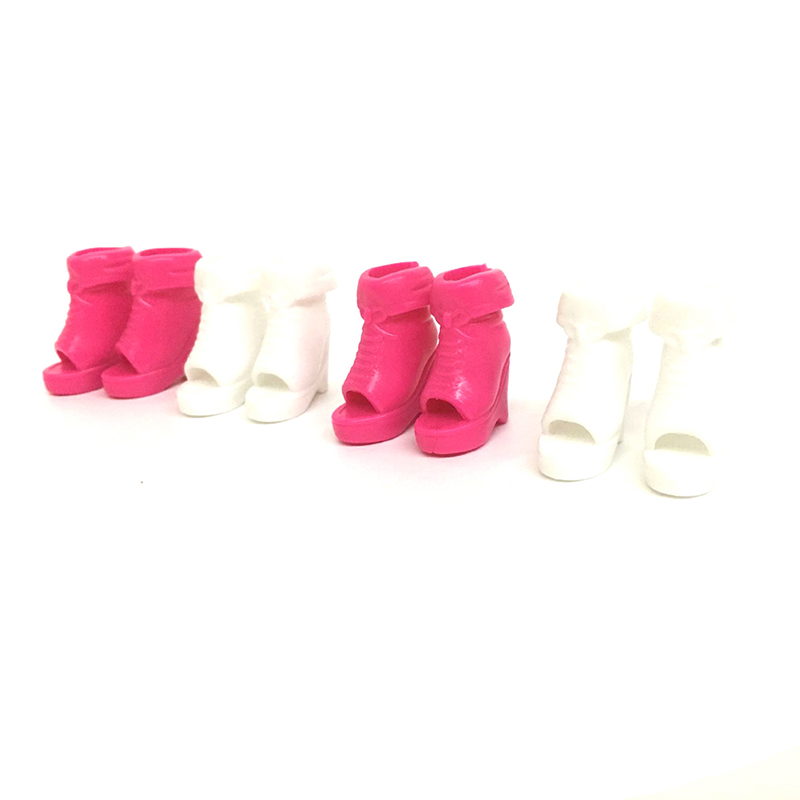Colorful Design Doll Princess High Heel Sandals Shoes Fashion Boot Decor 40 pair