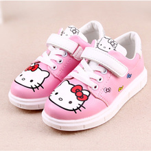 Girls Spring Sneakers Children Cartoon Hello Kitty Shoes Kids Rubber Casual Flats Shoes Toddlers Lovely Trainers C215