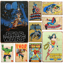Hot Star Wars Chic Home Bar Vintage Metal Signs Home Decor Vintage Tin Signs Pub Vintage Decorative Plates Metal Wall Art