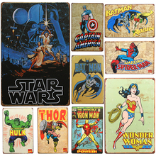 2018 Hot Star Hero Chic Home Bar Vintage Metal Signs Home Decor Vintage Tin Signs Pub Vintage Decorative Plates Metal Wall Art(China)