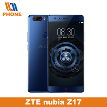 Original ZTE Nubia Z17 Mobile Phone 6GB RAM 64GB/128GB Rom 835 Octa Core NFC 23.0MP+12.0MP Dual Back Cameras Fingerpr ID Google