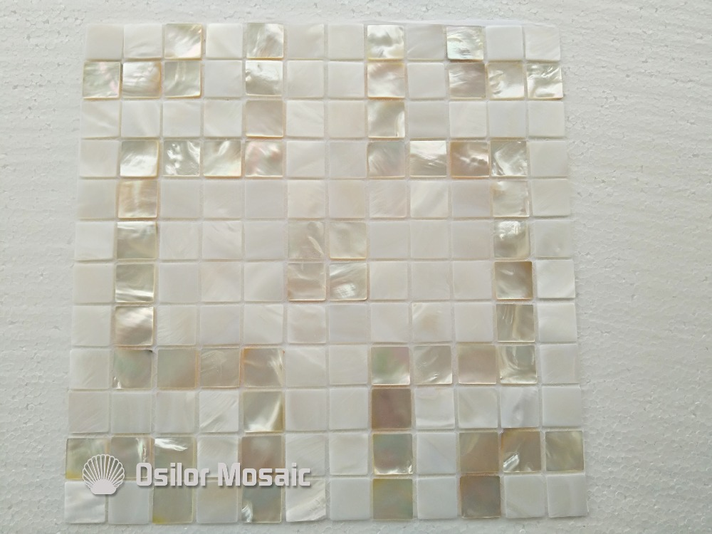 Free shipping 100% natural whitelip mother of pearl and Chinese freshwater shell mosaic tile for home decoration wall tiles<br>