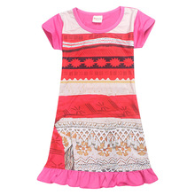 Dress Children Clothing Summer Dresses Girls Baby Pajamas Costume Princess Nightgown Vestidos Infantis Clothes Moana