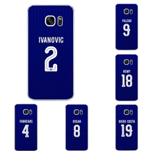 For Samsung Galaxy J3 J5 J7 2016 Phone Case S4 S6 S7 Edge Plus Shell C5 C7 Transparent Cover  Chelsea Football Club Pattern Skin
