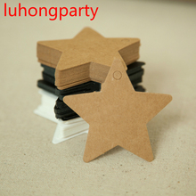 50pcs 6cm*6cm wholesale homemade Kraft paper tags bookmark mood message card DIY scrapbook accessories
