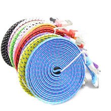 1M/2M/3M 30 pin Braided Flat USB Data Sync Charging Charger Cable Cord For iPhone 4 4S 3G/ipad 2 3