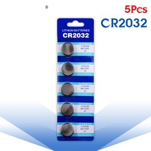 YCDC 5 Pcs Button battery 3V Lithium Coin Cells Button Battery 5004LC ECR2032 CR2032 DL2032 KCR2032 EE6227(China)