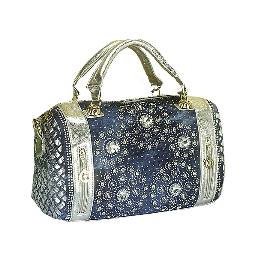 QIAN YI YUAN Brand handbag Boston Totes Fashion The messenger bag Women Knitting Diamonds In the style of bag Denim Bag QYY025<br><br>Aliexpress
