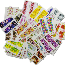 48pcs Mixed Colorful Fashion Water Transfer Decals Nail Art DIY Full Cover Designs Women Nail Sticker  Nail Art TRSTZ352-391