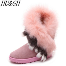 Increased the new winter 2017 short boots female flat fur boots, snow boots fashion warm antiskid students direct manufacturers(China)