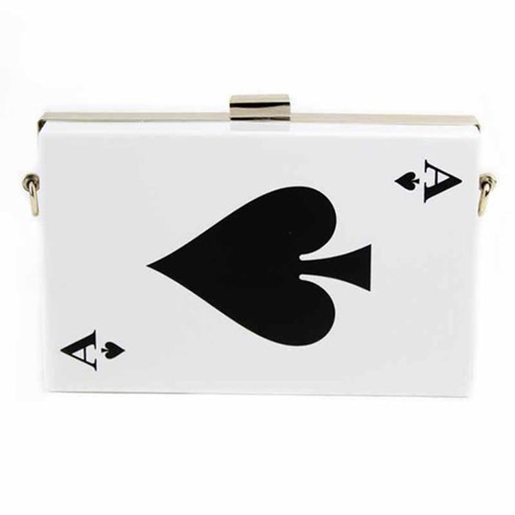 fashion  pocker handbags  playing card messenger bag dropship special Mini bag<br><br>Aliexpress