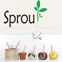 1 Box 8 Item Exotic Sprouts Pencil Novel Germination Can Be Planted Pencils Buds Contains Different Seeds