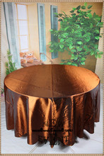 "New Design For 2016 90"" 108"" 128"" Copper Taffate Tablecloth For Wedding Party Hotel Home Decorations/Wedding Supplies(China)"