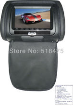 "7""inch car headrest DVD player with zipper cover USB/SD  32 bit wireless Game,IR,FM,for car,3 color optional"