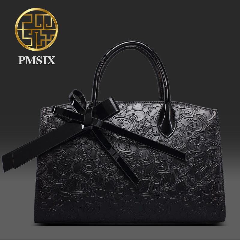 2017 Pmsix new fashion handbag embossed handbag black shoulder bag Messenger bag trend of temperament women bag<br><br>Aliexpress