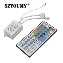 SZYOUMY RGB LED Controller 24 / 44 Key Dual Output Port Connectors DC12V 2 Ports Dimmer for 3528 5050 RGB led strip light