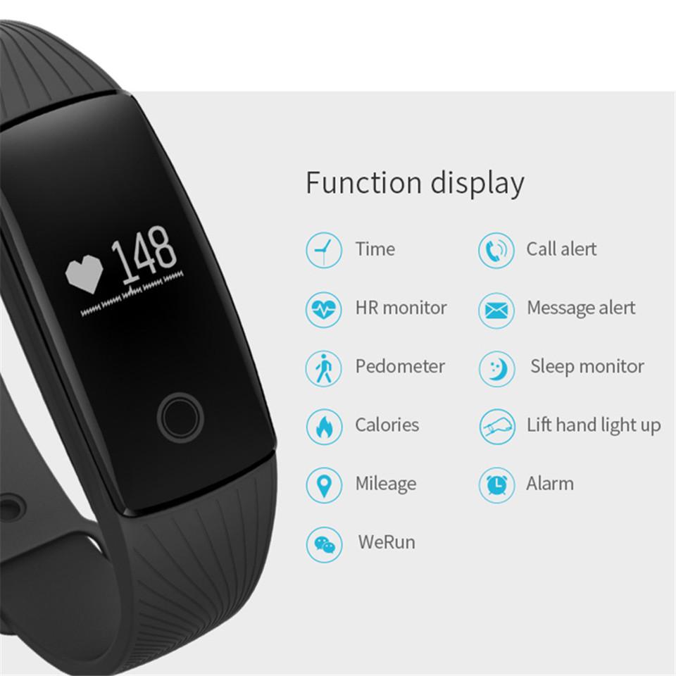 Teamyo New V05C Smart Band Pulse Heart Rate Monitor Smart Wristband Fitness Tracker Pedometer Sleep Tracker IOS Android Bracelet 7