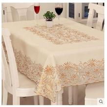 PVC  waterproof  lace table cloth  oil proof  tablecloth