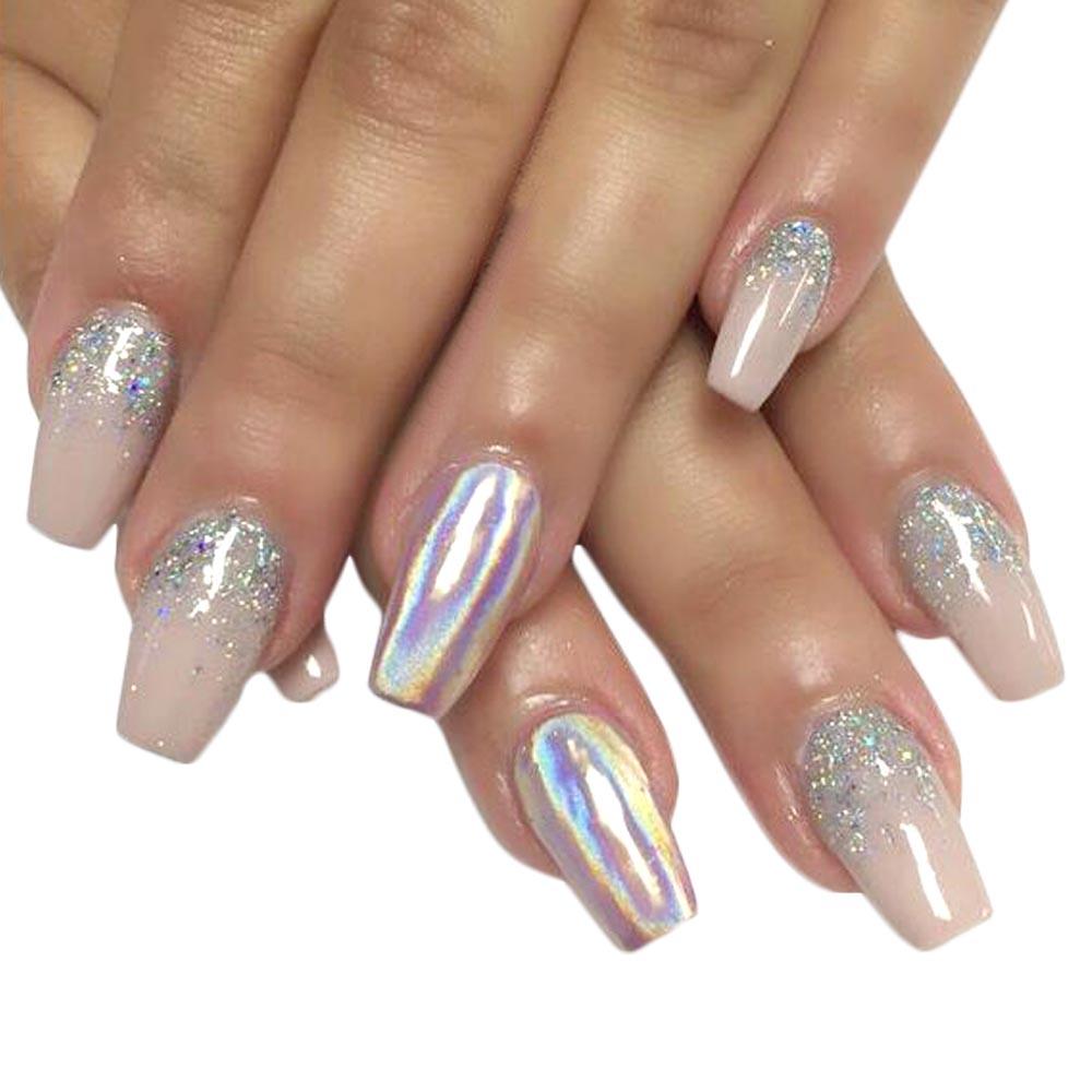 rainbow nail glitter