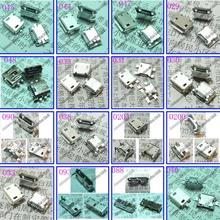 Micro USB 5P 25Models,100pcs  New DC Power Jack Micro USB  Port Plug Socket for netbook/ tablet /mobile 2.0 and 3.0 USB JACK