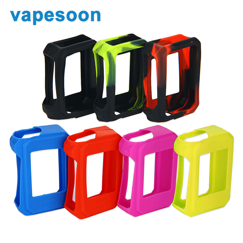 Vapesoon Smok G-priv Mod Silicone Case Cover Silicon Rubber Skin Electronic Cigarette Case for SMOK G-priv Kit/Mod Vaporizer(China (Mainland))