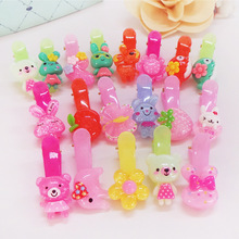20pcs Kids Baby Children Animal Hair Clip Flower Barrette Cute Bear Hairpin Accessories For Girl Bow Headwear Hairgrip Hairclip