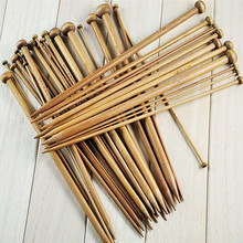 36pcs/lot 18 Sizes High Quality Carbonized Bamboo Knitting Needles Set Single Smooth Crochet Needles Wool Needle Arts Tools(China)