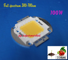 100W LED Grow light chip 60pcs x 3w bridgelux full spectrum 380-780nm 100W led grow light array for indoor DIY growth and bloom(China)