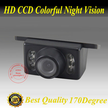 Factory Promotion Car Rear View Reverse Backup Parking Waterproof  CCD  Camera with IR LED Night vision,free shipping