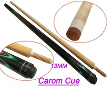 Free shipping COSSMY Carom Cues with 13mm cue tips black Maple 1/2 Wood Jointed Carom Billiards Cue Stick High quality