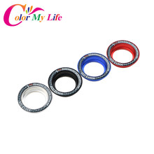 Color My Life Car Ignition Key Switch Ring Cover Hole Circle Stickers for Ford Focus 2 3 4 MK2 MK3 MK4 Everest Accessories(China)