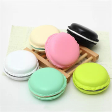 Portable Colors Cute Macaron Bread Storage Box Suit for Finger Ring Bracelet Necklace TF SD Memory Card Earphones Coin Storage