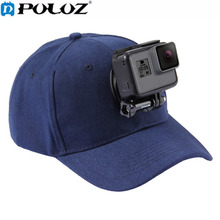 PULUZ Canvas Baseball Hat Cap Adjustable Strapback Cap With J-Hook Buckle Mount Screw PU195 For GoPro HERO Cameras(China)