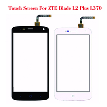 Black White Touch Screen For ZTE Blade L2 plus L370 Lens Sensor Glass Original Front Touch Panel Replacement Mobile Accessory(China)