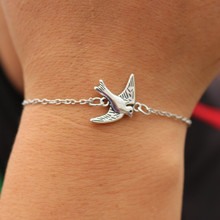 SL184 One Direction Charm Bird Bracelets Bangle pulseras mujer Women Men Jewelry Wrap Bracelet 2017 European & American HOT Sale