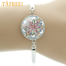TAFREE Brand Indian henna Yoga jewelry om symbol Buddhism zen colorful Mandala flower bracelet for women friends gifts NS323