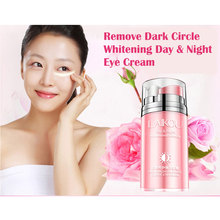 LAIKOU Day and Nightrepair Anti-Puffiness Dark Circle Rose Essential Oil Eye Cream Anti-Aging Smooth Repair Dry Skin Care